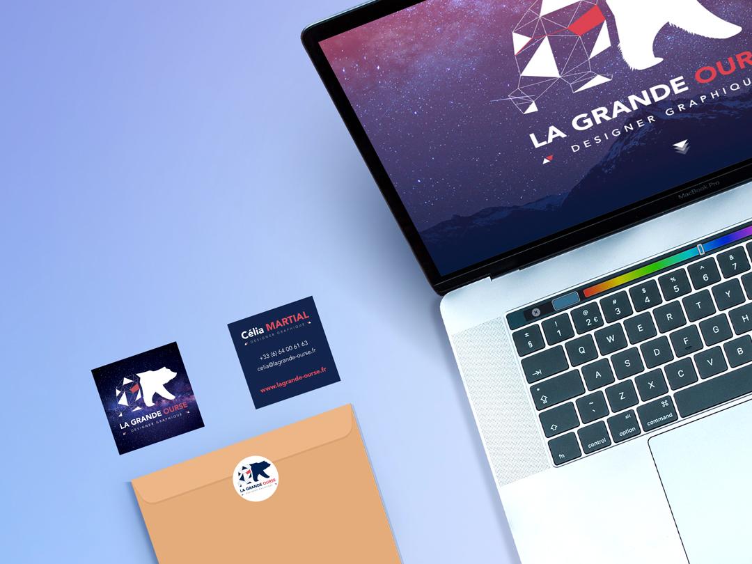 Identité visuelle La Grande Ourse Designer Graphique
